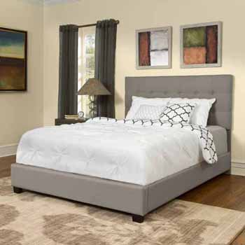 Crosley Furniture Andover Bed Set in Shadow Gray Leatherette Finish