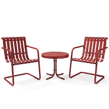 Crosley Furniture 3-Piece Coral Red