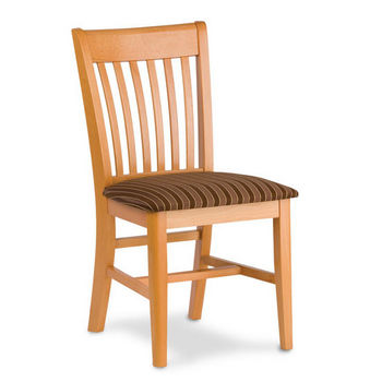 Henry Slat Back Wood Chair With Upholstered Seat by Cambridge