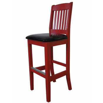 Bulldog Slat Back Barstool With Upholstered Seat by Cambridge