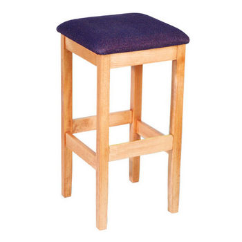 Bulldog Backless Wood Bar Stool With Upholstered Seat by Cambridge