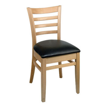 Carole Chair With Black Vinyl Seat by Cambridge