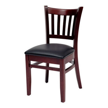 Cambridge - Grill Side Chair w/ Black Vinyl Seat