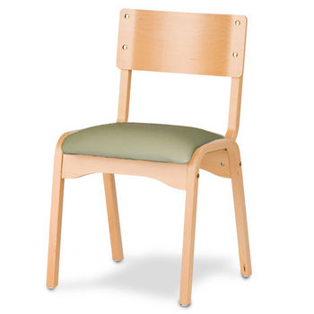 Cambridge - Carlo Stacking Chair w/ Upholstered Seat