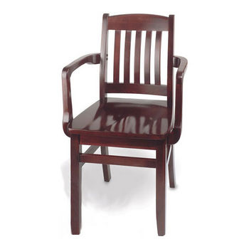 Cambridge - Bulldog Arm Chair with Wood Seat