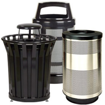 built in trash cans commercial trash cans - Commercial Garbage Cans