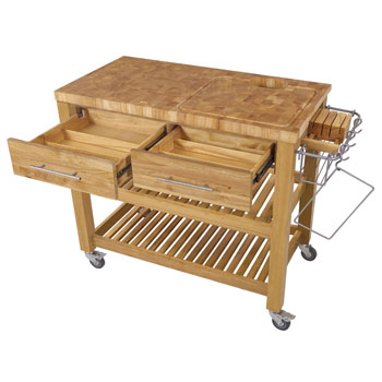 Open w/ 2 drawers, Natural