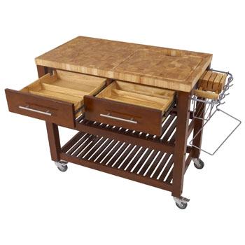Open w/ 2 drawers, Espresso