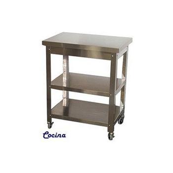 Danver Cocina Kitchen Cart W/ Stainless Steel Top