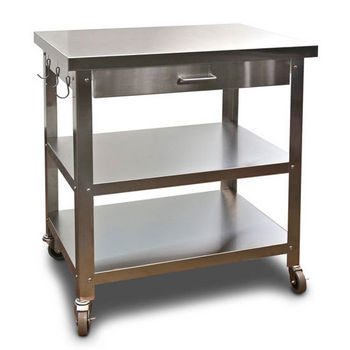 Danver Stainless Steel Kitchen Cart with Wheels