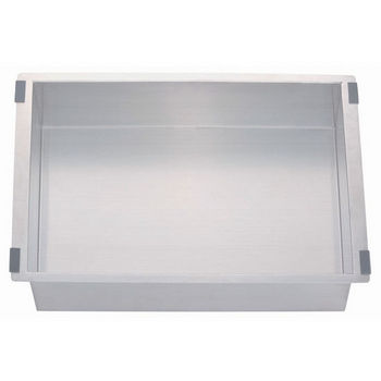 "Dawn Sinks Undermount Stainless Steel Tray, 20 gauge, Satin, 11""W x 16-3/4""D x 5-1/8""H"