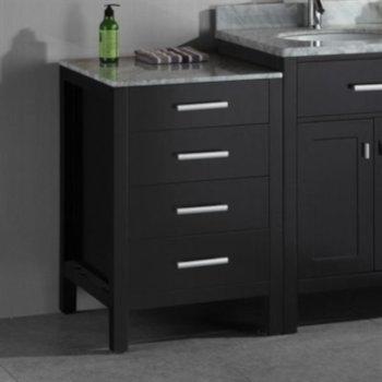 "Design Element London 20"" Side Cabinet in Espresso, 20"" W x 22"" D x 32"" H"