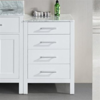 """Design Element London 20"""" Side Cabinet in White, 20"""" W x 22"""" D x 32"""" H"""