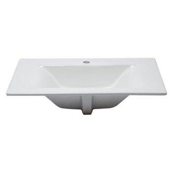 """32"""" x 19"""" White Overhead Front View 2"""