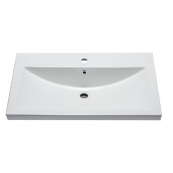 "32"" x 19"" White Overhead Front View"