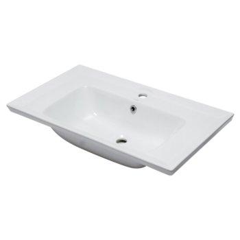 "EAGO Ceramic 32"" x 19"" Rectangular Drop In Sink in White, 31-1/2"" W x 18-7/8"" D x 8-1/8"" H"