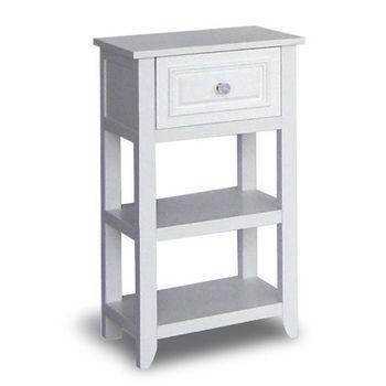 Bathroom Storage Dawson Floor Cabinet W 1 Drawer Shelves White Finish By Echelon Home