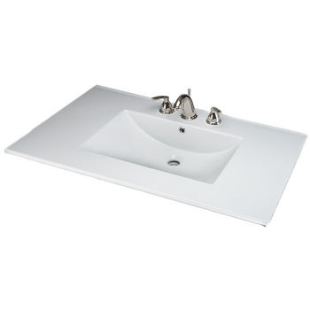 Empire Barcelona 4922 Ceramic Sink Top, 3 Hole, White