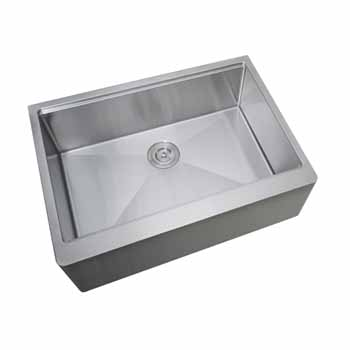 Empire Industries Single Bowl Apron Front Farmhouse Stainless Steel Kitchen Sink
