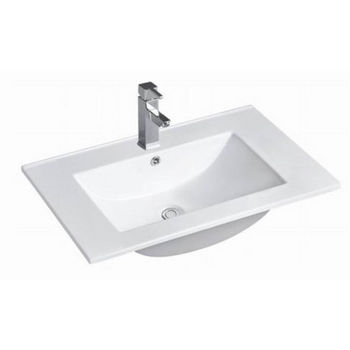 "Empire Industries 24"" Autumn Thin Edge Ceramic Top in White, 24"" W x 18-5/16"" D x 8"" H"