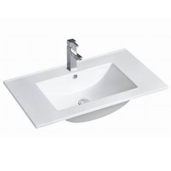 "Empire Industries 30"" Autumn Thin Edge Ceramic Top in White, 30"" W x 18-5/16"" D x 8"" H"