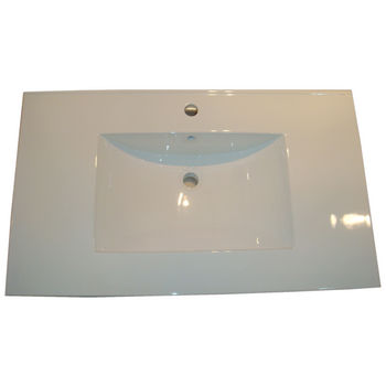 Empire Barcelona 3122 Ceramic Sink Top, 1 or 3 Hole, White