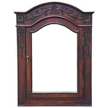 Framed medicine cabinets shop framed bathroom medicine for Wood frame medicine cabinet
