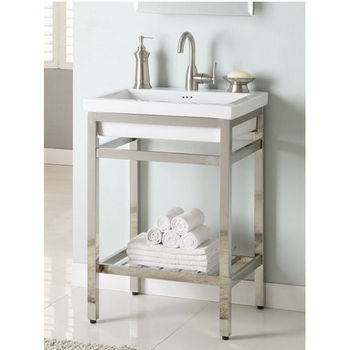 "Empire South Beach 24"" Console, Satin or Polished Stainless Steel"