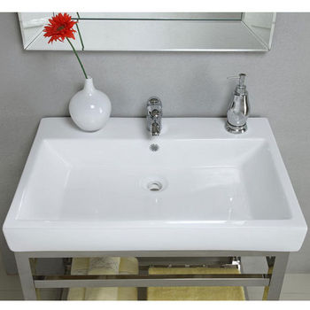 "Empire South Beach 31"" Console, Satin or Polished Stainless Steel with Milano Sink"