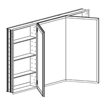 Broadway Tri-Door Recessed Medicine Cabinet