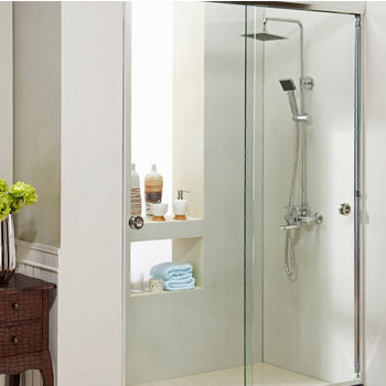 "Empire Carlyle 10mm (3/8"") Thick Clear Tempered Glass Classic Shower Doors Enclosure, Fits Wall Opening: 44"" to 60"""