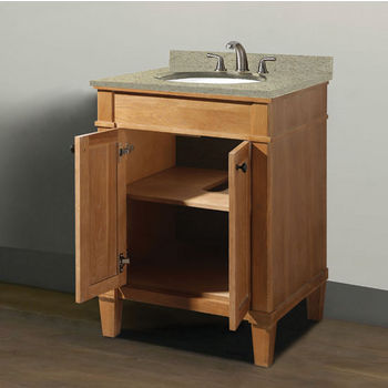 "Empire Industries Cambridge Collection 24"" Vanity with Quartz Nova Café Latte Countertop and Biscuit or White Undermount Sink Bowl Installed, 24"" W x 21-1/2"" D x 33-5/16"" H"