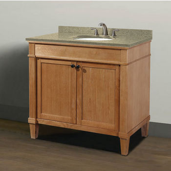 "Empire Industries Cambridge Collection 36"" Vanity with Quartz Nova Café Latte Countertop and Biscuit or White Undermount Sink Bowl Installed, 36"" W x 21-1/2"" D x 33-5/16"" H"