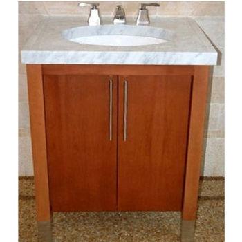 "Empire Contempo 30"" Bathroom Vanity with Pecan Finish"