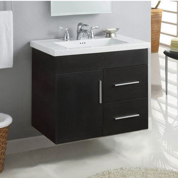 Bathroom Vanities 30 W Daytona Wall Hung Vanities With Wood Construction And Polished Or Satin Hardware By Empire Industries Kitchensource Com