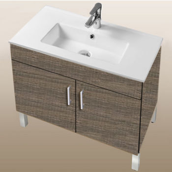"Empire Industries Daytona Collection 30"" 2-Door Bathroom Vanity in Bermuda Days with Polished or Satin Leg Frame and Hardware"