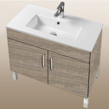 "Empire Industries Daytona Collection 30"" 2-Door Bathroom Vanity in Bermuda Nights with Polished or Satin Leg Frame and Hardware"