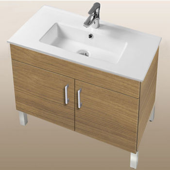 "Empire Industries Daytona Collection 30"" 2-Door Bathroom Vanity in Golden Wheat with Polished or Satin Leg Frame and Hardware"