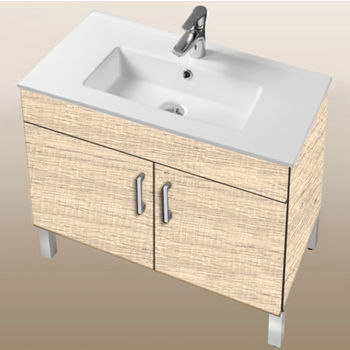 "Empire Industries Daytona Collection 30"" 2-Door Bathroom Vanity in Moroccan Sand with Polished or Satin Leg Frame and Hardware"