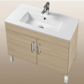 "Empire Industries Daytona Collection 30"" 2-Door Bathroom Vanity in Pickled Oak with Polished or Satin Leg Frame and Hardware"