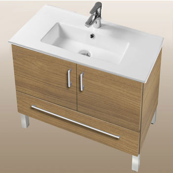 "Empire Industries Daytona Collection 30"" 2-Door/1-Drawer Bathroom Vanity in Golden Wheat with Polished or Satin Leg Frame and Hardware"