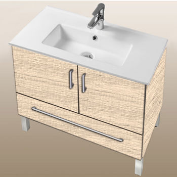 "Empire Industries Daytona Collection 30"" 2-Door/1-Drawer Bathroom Vanity in Moroccan Sand with Polished or Satin Leg Frame and Hardware"