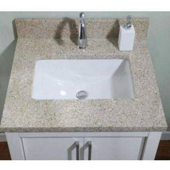 Empire 1 1 4  Euro Granite Golden Peach Bathroom Vanity Top w  Rectangular  Cut Out 36 W  Available in Multiple Option. Granite  Marble And Metal Vanity Tops to Fit Your Bathroom Vanity