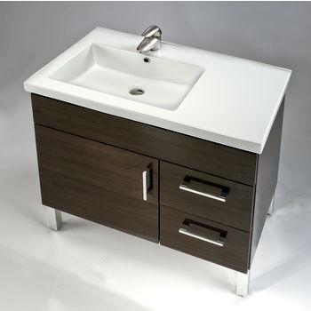 """Empire Fiorella 32'' Ceramic Sink, 1 Hole, 31-1/2"""" W x 18-1/8"""" D x 7-1/8"""" H, White"""