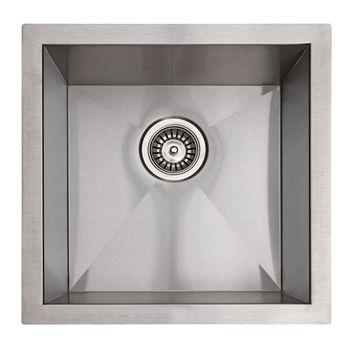 Empire 18 Gauge Zero Radius Single Undermount Sink in Stainless Steel, 17'' W x 17'' D x 9'' H