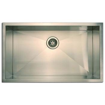 Empire 18 Gauge Zero Radius Single Undermount Sink in Stainless Steel, 30'' W x 18'' D x 10'' H