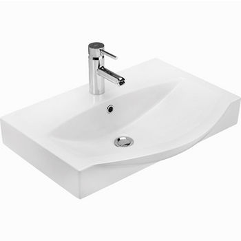 "Empire Industries 26"" Ipanema Ceramic Sink Top in White, 25-3/5"" W x 19-5/16"" D x 3-4/5"" H"