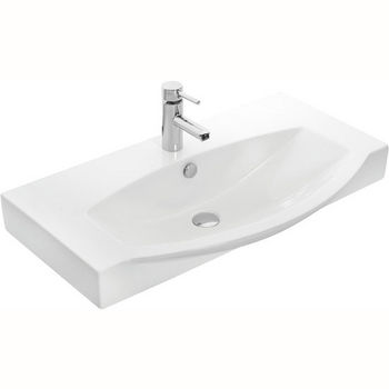 "Empire Industries 34"" Ipanema Ceramic Sink Top in White, 33-5/16"" W x 19-5/16"" D x 4"" H"