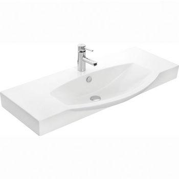 "Empire Industries 42"" Ipanema Ceramic Sink Top in White, 41-1/5"" W x 19-1/2"" D x 4"" H"