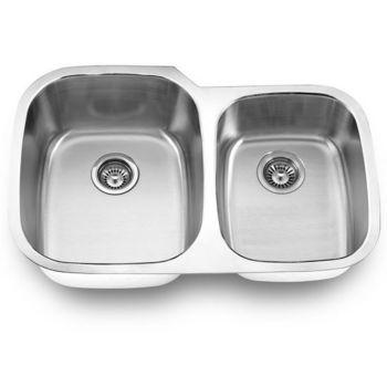 Empire Stainless Steel Undermount Double Bowl Kitchen Sink
